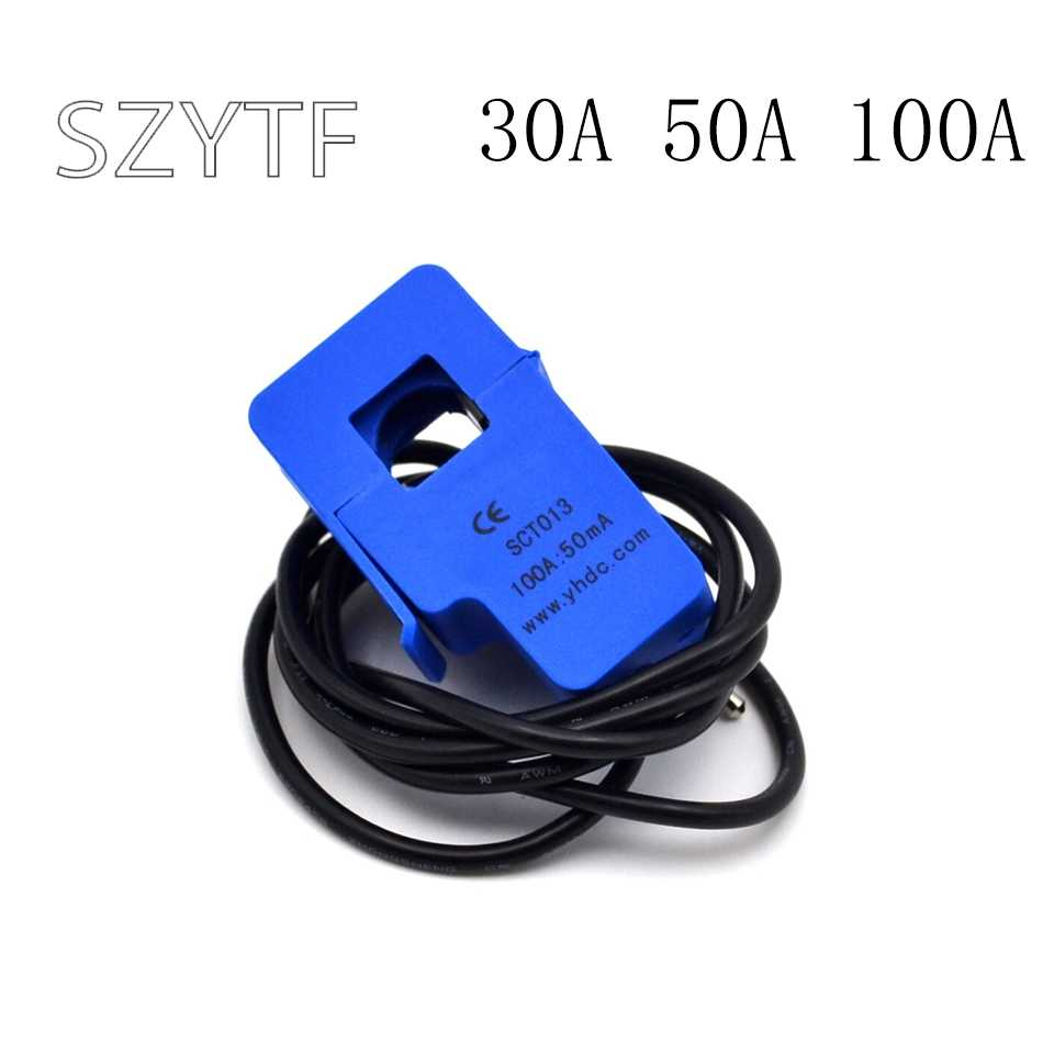 SCT-013-000 YHDC 30A 50A 100A retractable current transformer SCT013000