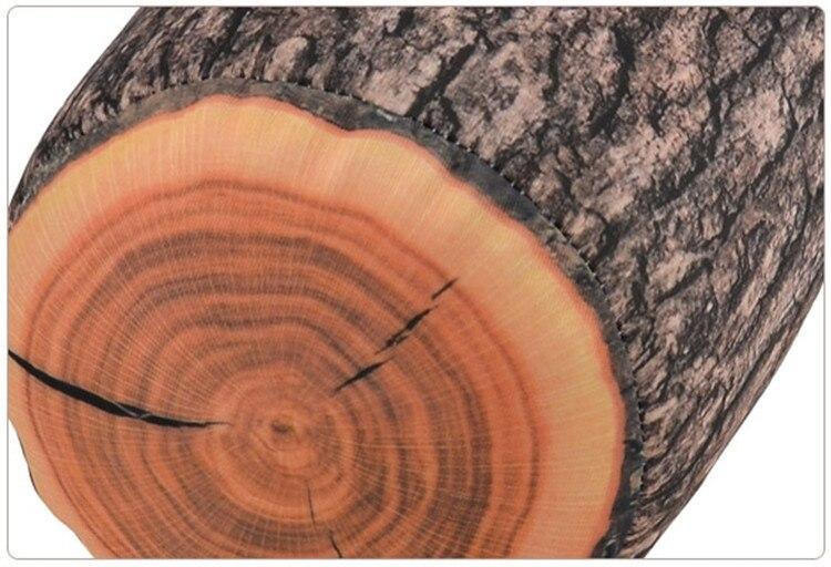 1 Stück Holz Anmelden Pillow/Baumstumpf Holz Textur Dekokissen Im Auto  Schmücken EM19879Q #
