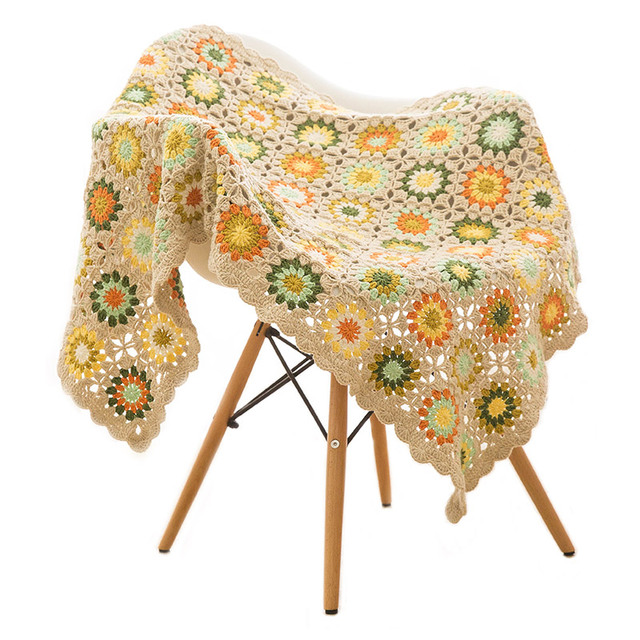 Colorful Daisy Handmade Blanket Mawgie