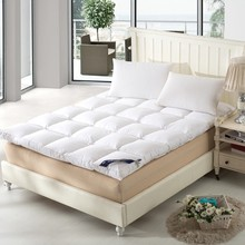 Hot Sales White Duck Down Goose Feather Filler Bed Mat 233TC Layers Mattress Four Size(China)