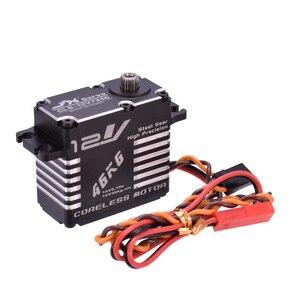 Image 3 - JX CLS 12V7346 46KG 12V סרוו 180 מעלות HV גבוהה דיוק פלדת ציוד דיגיטלי Coreless סרוו CNC אלומיניום פגז סרוו