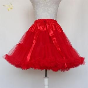 Image 3 - Đen Thời Trang Bầu Tây Nam Không Xoay Đầm Ngắn Petticoat Lolita Petticoat Ba Lê Váy Tutu Rockabilly Crinoline Không Xương