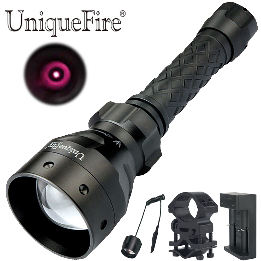 UniqueFire 1405 IR 850nm Night Vision T67 Flashlight 3 Modes Led Flashlight Kit: Lamp Torch, Remote Pressure,Scope Mount,ChargerUniqueFire 1405 IR 850nm Night Vision T67 Flashlight 3 Modes Led Flashlight Kit: Lamp Torch, Remote Pressure,Scope Mount,Charger