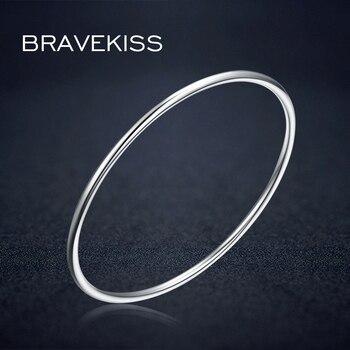 22ee8fcabb0c BRAVEKISS de plata esterlina 925 pulsera para las mujeres aro brazalete  pulsera para chicas brazalete pulseras modernas de Navidad joyas de regalo  BLB0080