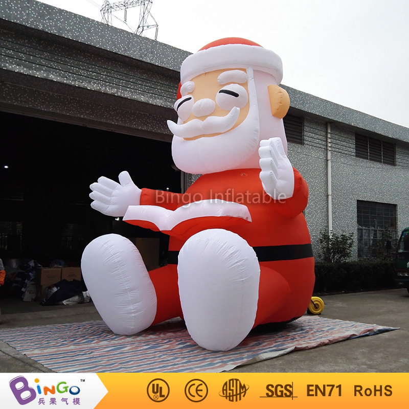 giant Christmas inflatable Santa Claus for party event decoration-16Ft.-5M high-BG-A0344-21 toy romatic inflatable light ivory for event and party decoration
