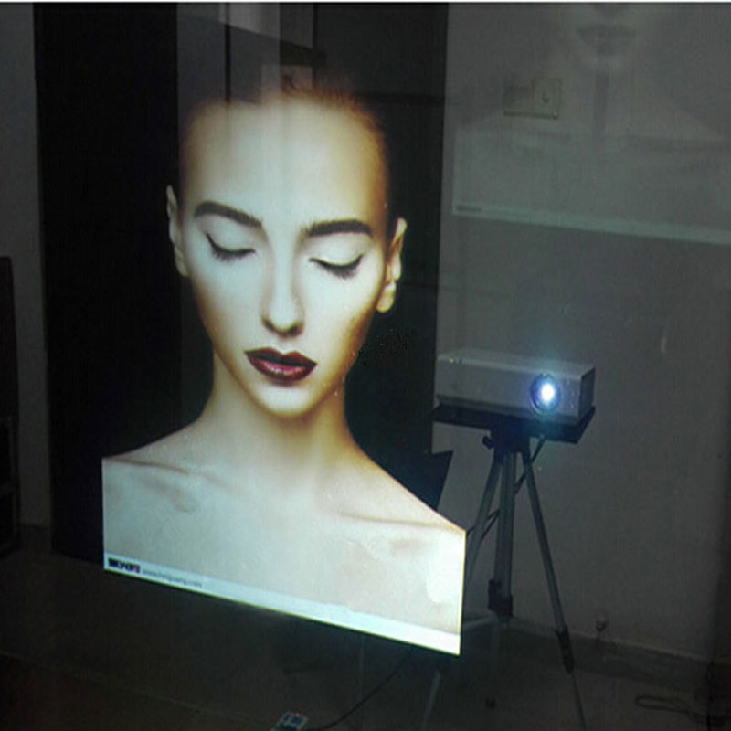 110cm X250cm SUNICE New High Quality transparent Self Adhesive Holographic Rear Projection Screen Film PET Material