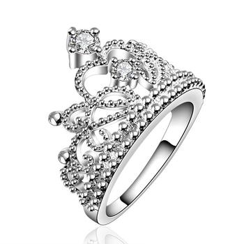 Princess Ring Austrian Crystal Crown Rings