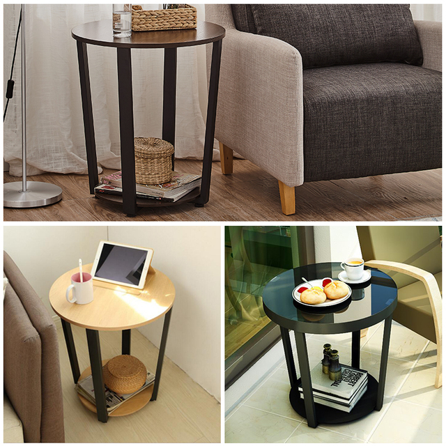 Modern Metal Side Table Sofa Edge Mini Tea Living Room Iron Gl Small Round