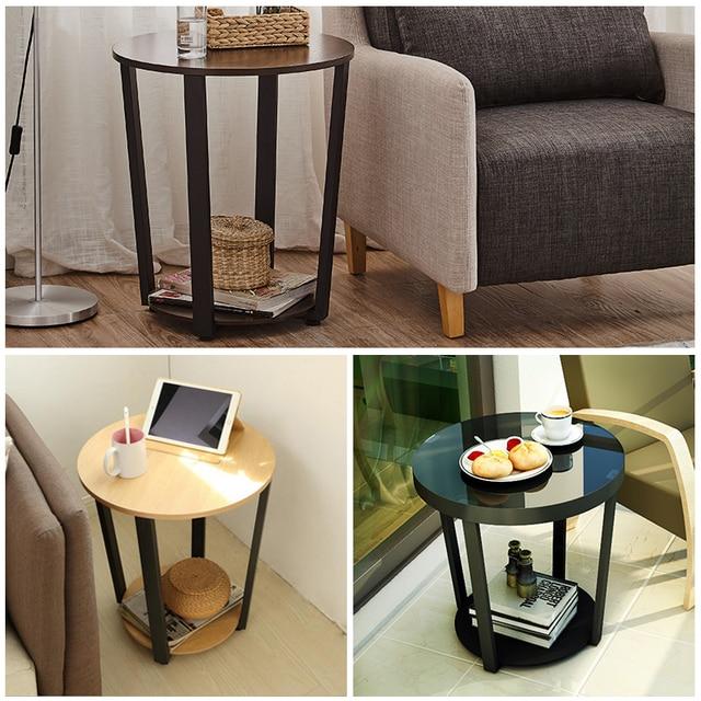 Cheap Side Tables For Living Room Ny Modern Metal Table Sofa Edge Mini Tea Iron Glass Small Round Coffee