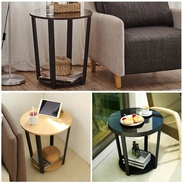 Us 369 99 Modern Metal Side Table Sofa Edge Mini Tea Living Room Iron Gl Small Round Coffee In Tables From Furniture On