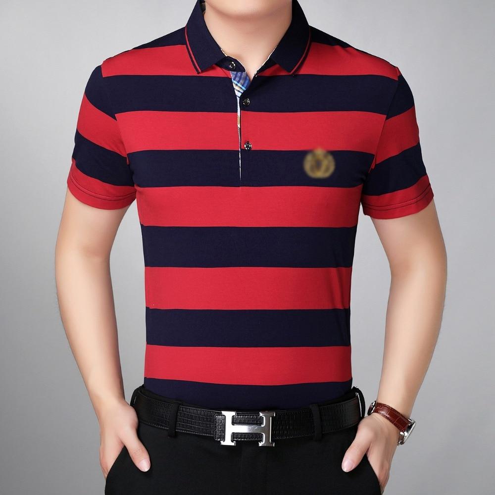 Été hommes chemises jaune rouge noir croix rayures hauts homme intelligent casual Blouses Turn Down col quart bouton Colalr chemise mâle - 3