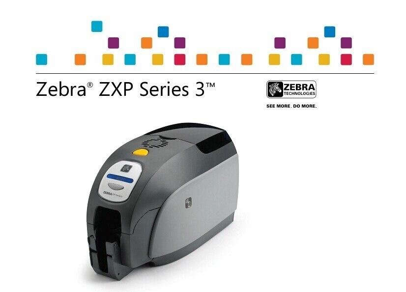 Zebra ZXP SERIES 3 HD carte imprimante utiliser spécial couleur ruban pour les entreprises etiquetadora