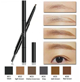 3 Pcs/Lot 6 Colors Women Lady Triangle Waterproof Eyebrow Pencil Eye Brow Pen With Brush Make-Up Tools free shipping