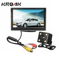 5 Inch 480 X 272 TFT LCD Car Rear View Monitor 170 Degrees Lens Night Vision