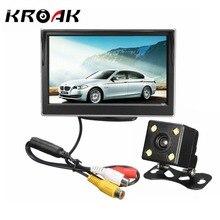 5 Zoll 480×272 TFT LCD Rückfahrmonitor + 170 Grad-objektiv Nachtsicht Rück Reverse Parkplatz Rückfahrkamera wasserdicht