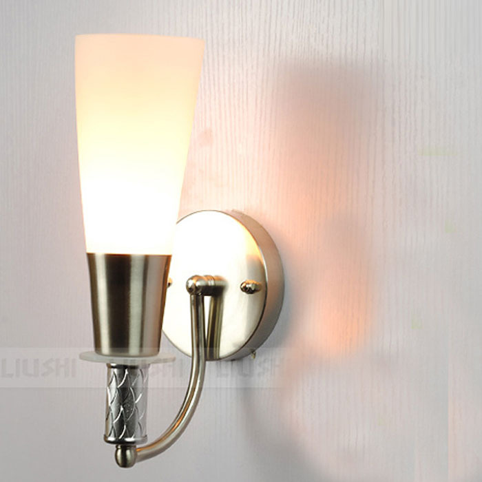 modern frosted glass torch corridor bathroom wall lights glass bedroom bedsides wall sconces hallway balcony stair