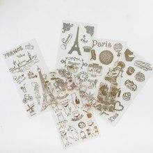Folha de ouro adesivo meow gatos, 6 folhas adesivas, ouro, notebook, conta de mão, decoração