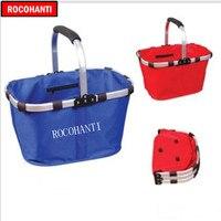 Customized Folding shopping folded basket eco friendly shopping oxford fabric shopping basket