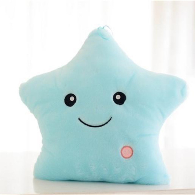 Luminous Pillow Glowing Colorful Stars