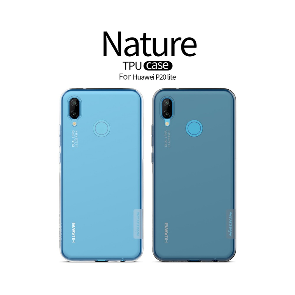 For Huawei P20/P20 Pro/P20 Lite Case Nillkin Nature Ultra Thin Soft TPU  Case Protective Cover For Google Nexus 6P Cover Case