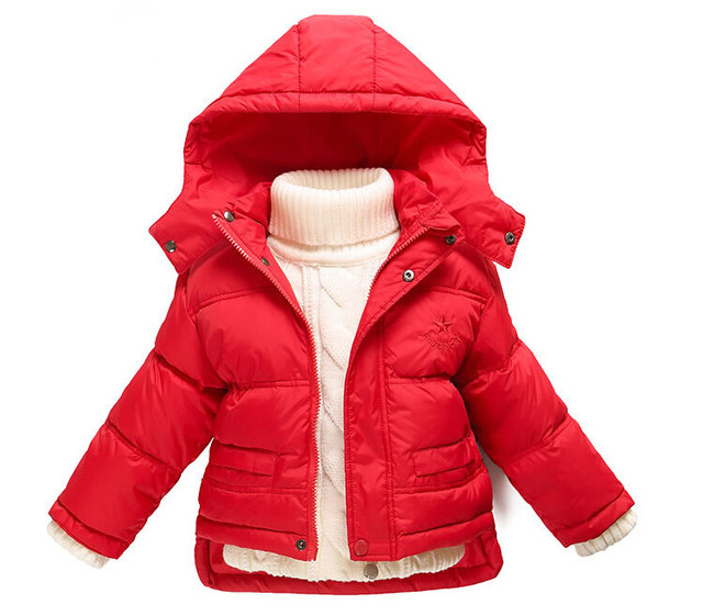 Дети Вниз Парки Детская одежда Зима Толстые теплые Мальчики девочки куртки и пальто детские тепловой лайнер вниз верхняя одежда
