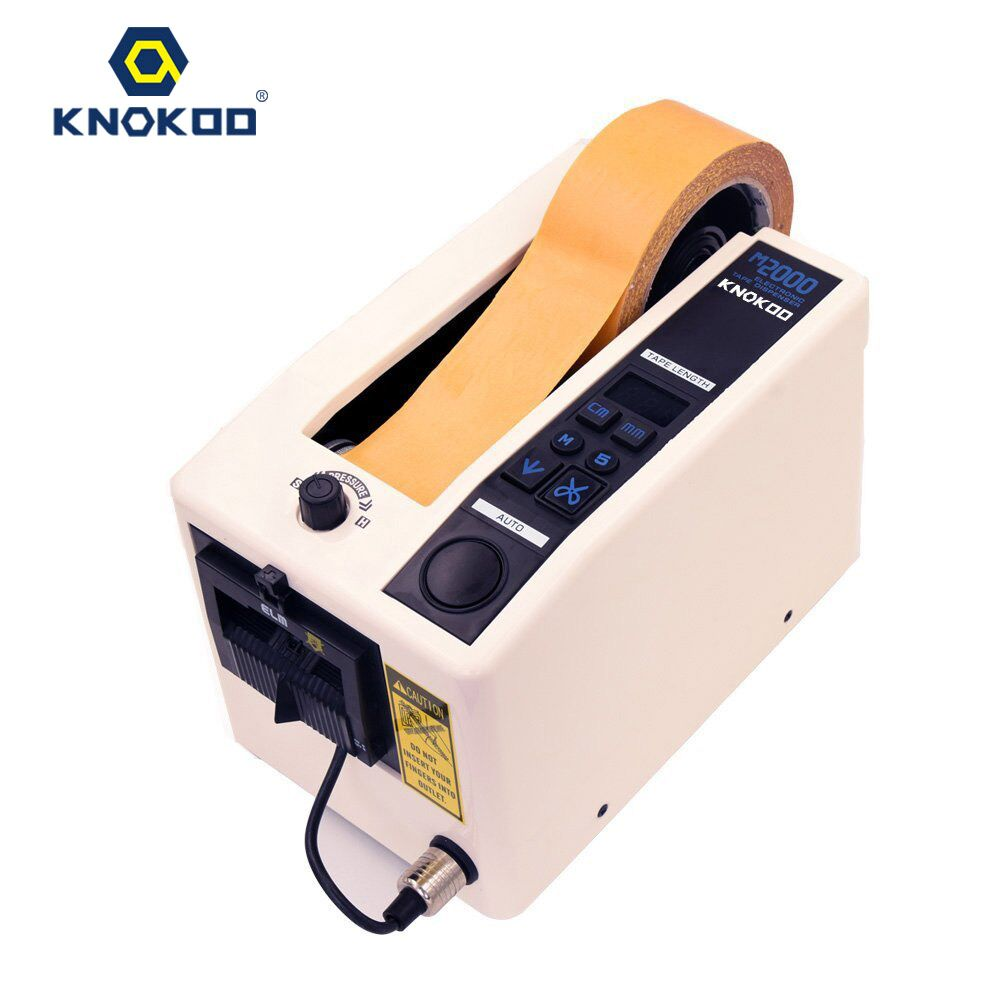 KNOKOO Automatic Masking Adhesive Tape Dispenser M2000 with Memory Function for PVC and Cloth Tape kitivr39404unv75606 value kit innovera cd dvd envelopes with clear window ivr39404 and universal correction tape with two way dispenser unv75606