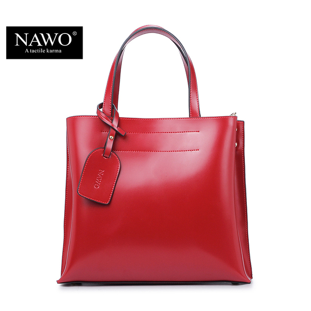 NAWO 2016 Women Shoulder Bags Shopping Famous Brand Luxury Women Designer Handbags High Quality Brand Leather Tote Bag For Women