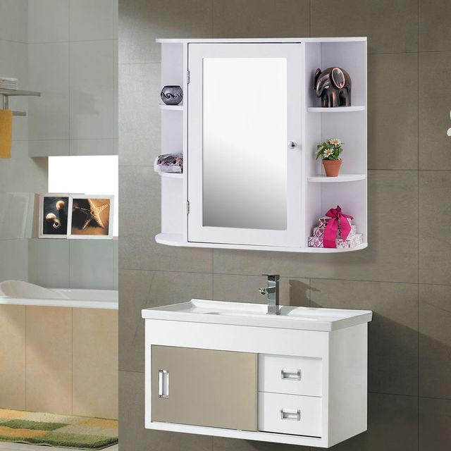 US $125.99 |Giantex Mehrzweck Montieren Wand Oberfläche Badezimmer Schrank  mit Spiegel Modern Holz Badmöbel HW56729 in Giantex Mehrzweck Montieren ...
