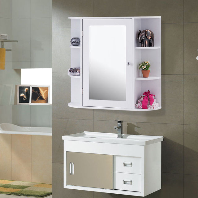 Giantex Multipurpose Mount Wall Surface Bathroom Storage Cabinet