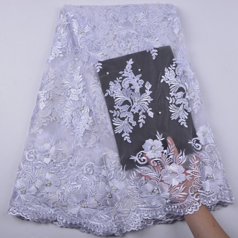 African Lace Fabric 2018 High Quality Lace Nigerian Lace Fabric With Beaded Embroidery Tulle French Lace