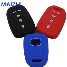 For Honda Accord Civic Crv Jazz HR-V HRV Vezel 2015 2016 Remote With Hold 4 Buttons Silicone Car Key Cover Case No Logo car cover for honda accord 7 8 9 civic crv cr v fit vezel jazz 2017 2016 2015 2014 2013 waterproof sun protection cars covers