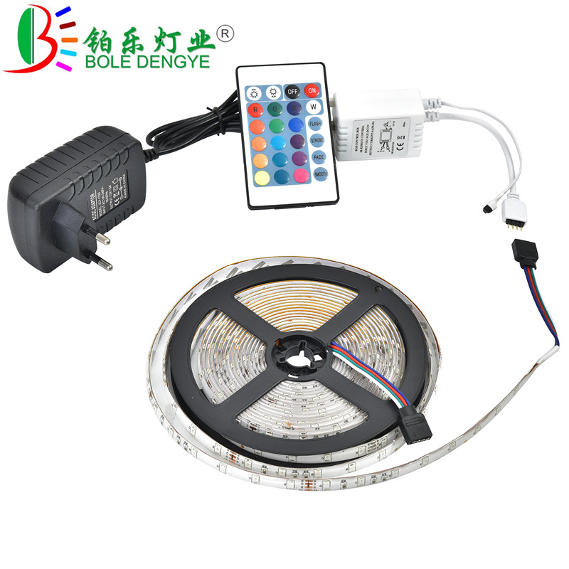BOLEDENGYE 5M 10M LED Strip SMD 2835 12V 60 leds/m Non Waterproof Flexible RGB Tape Ribbon+IR Remote Controller+12V 2A 3A Power 5m 10m rgb led strip 12v 60 leds m smd 2835 waterproof flexible tape ribbon colorful rope light string lamp led controller power