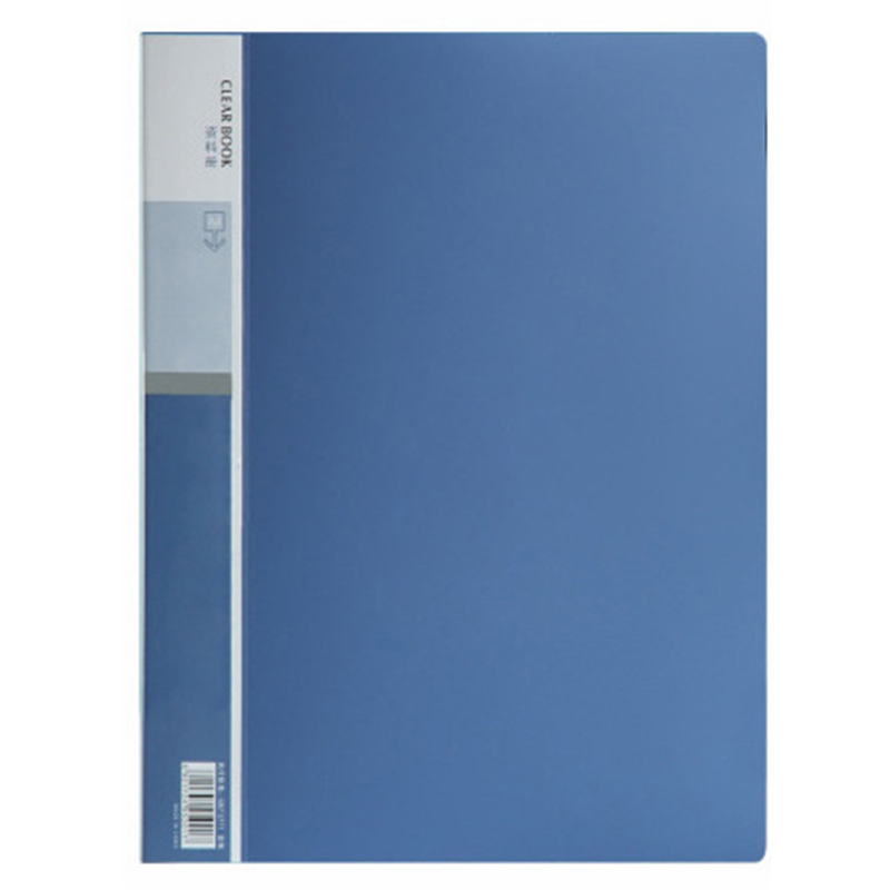 Blue Plastic Cover A4 Clear Book File With 20 Clear Pockets