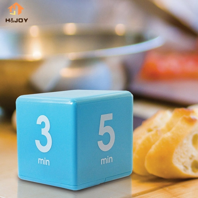 US $5 5  The Miracle Cube Timer, 5, 15, 30 and 60 Minutes for Management  Kitchen Kids Timer Workout Time White Datexx-in Kitchen Timers from Home &