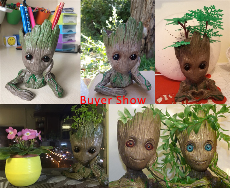 Baby-Groot-Flowerpot-Flower-Pot-Planter-Action-Figures-Guardians-of-The-Galaxy-Toy-Tree-Man-Cute