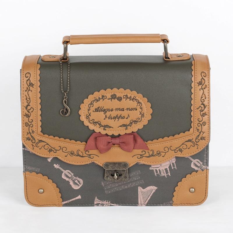 Christmas Gift Steampunk British Women Bags  Steam Punk Retro Handbags Lady Shoulder Bag Working Briefcase Pure Color