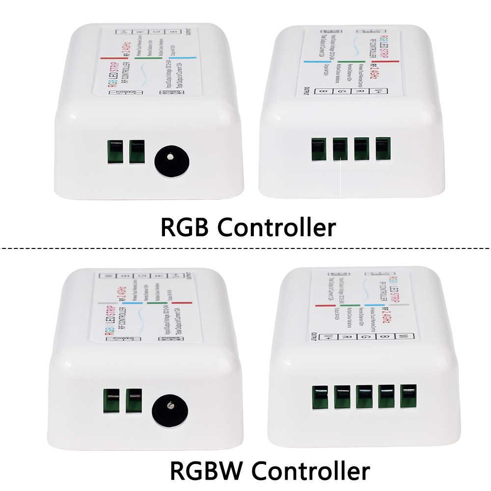 RF 2,4G RGB RGBW контроллер Светодиодная лента RGB контроллер Беспроводной RF пульт дистанционного управления с дистанционным настенным держателем для светодиодной ленты 5050