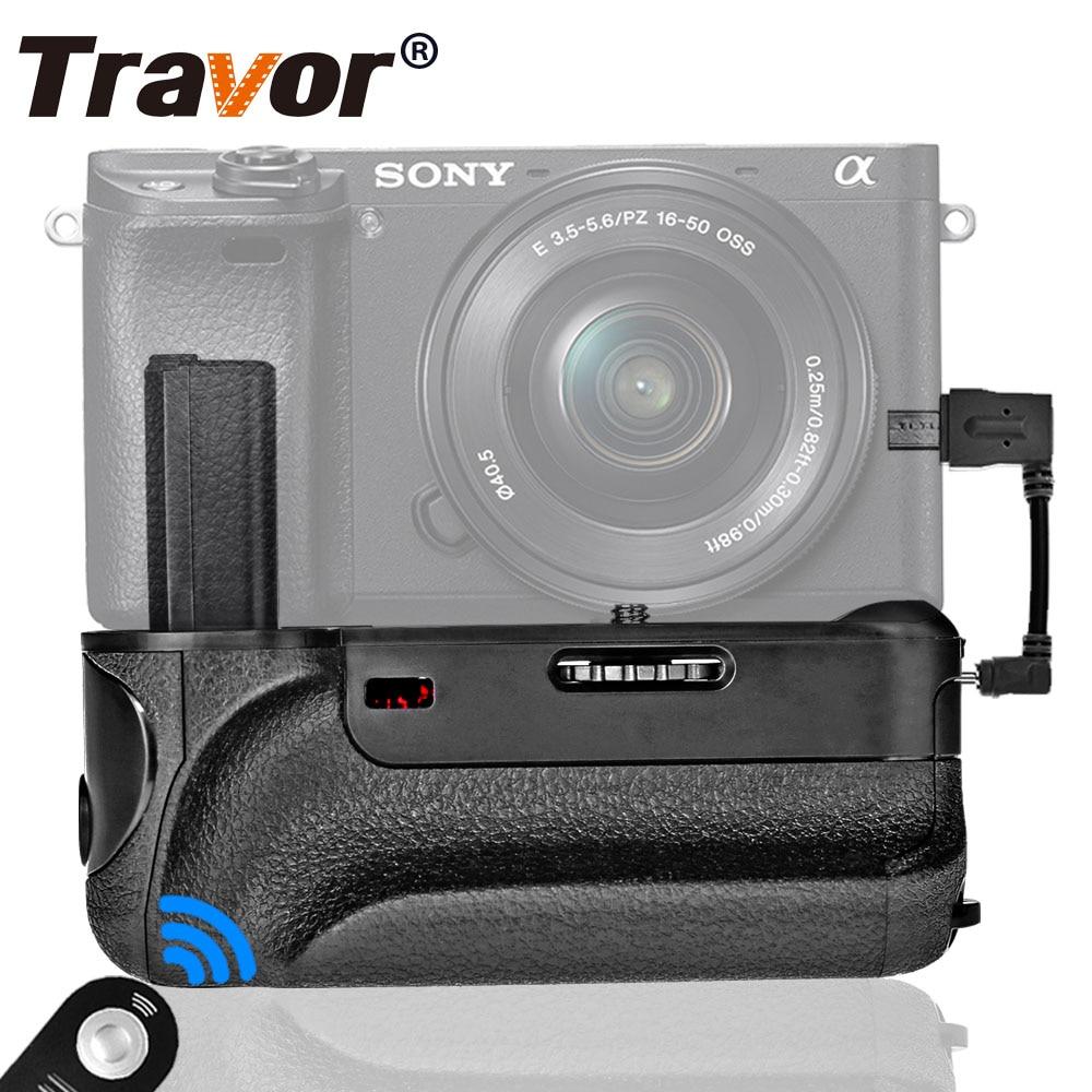 Travor vertical empuñadura de batería para Sony A6000 Mirrorless cámara Digital con función de IR trabajar con NP-FW50 batería