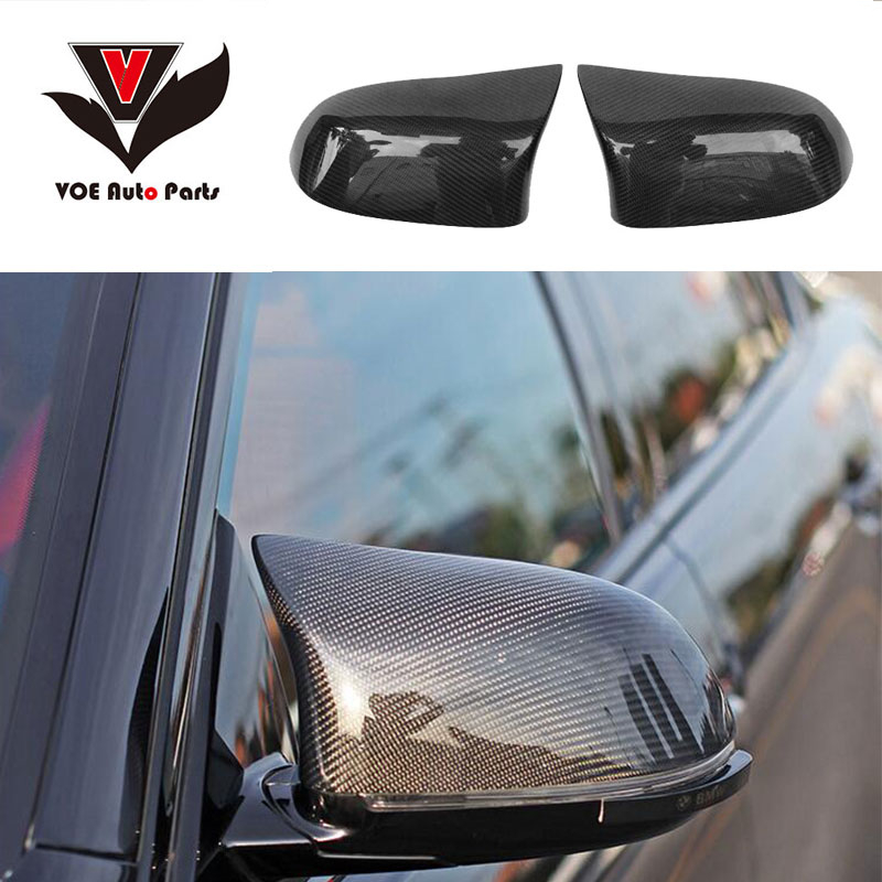 M Style F25 F26 F15 F16 Car Styling Carbon Fiber Full Replament Side Mirror Covers for BMW X3 X4 X5 X6 2014 2017 LHD ONLY