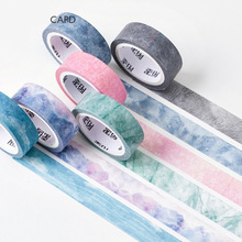 6 pcs/Lot Nature color washi tape set Blue sky Purple star Pink sakura Deco paper masking tapes Stationery School supplies 6635