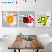 Canvas painting 3 panel Restaurant Fruits Orange grape green apple wall art Modern Modular pictures On for kitchen decor poster
