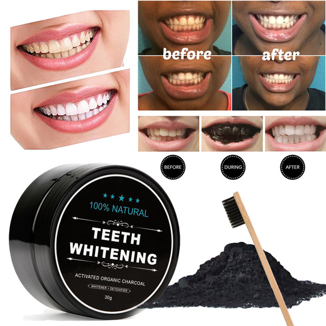 Teeth Pemutih Bubuk Arang Diaktifkan Arang Kelapa Pemutih Gigi Alami