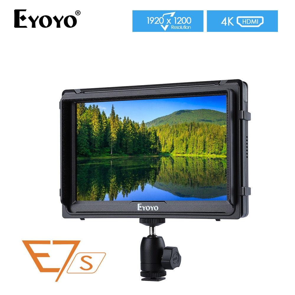 Eyoyo E7S mise à jour A7S 7 ''Ultra HD 4 K moniteur de terrain 1920x1200 IPS moniteur pour Sony FS7 Canon A7S2 Mark 5D2/5D3 DSLR caméra