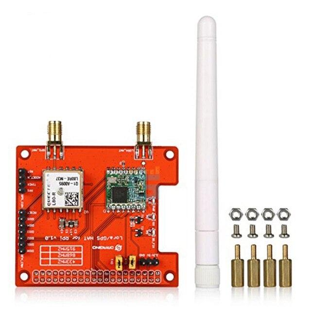Pour Dragino Lora GPS chapeau basé sur SX1276/SX1278 émetteur-récepteur 868 mhz/915 mhz/433 mhz, pour Raspberry Pi 2 modèle B/Raspberry Pi 3