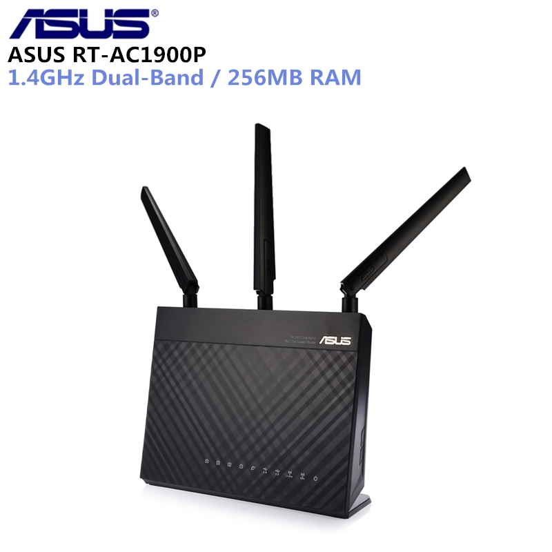 ASUS RT-AC1900P Wireless Router 1900Mbps WiFi Router 1.4GHz Dual-Band 256MB RAM With 4 Antennas цена и фото