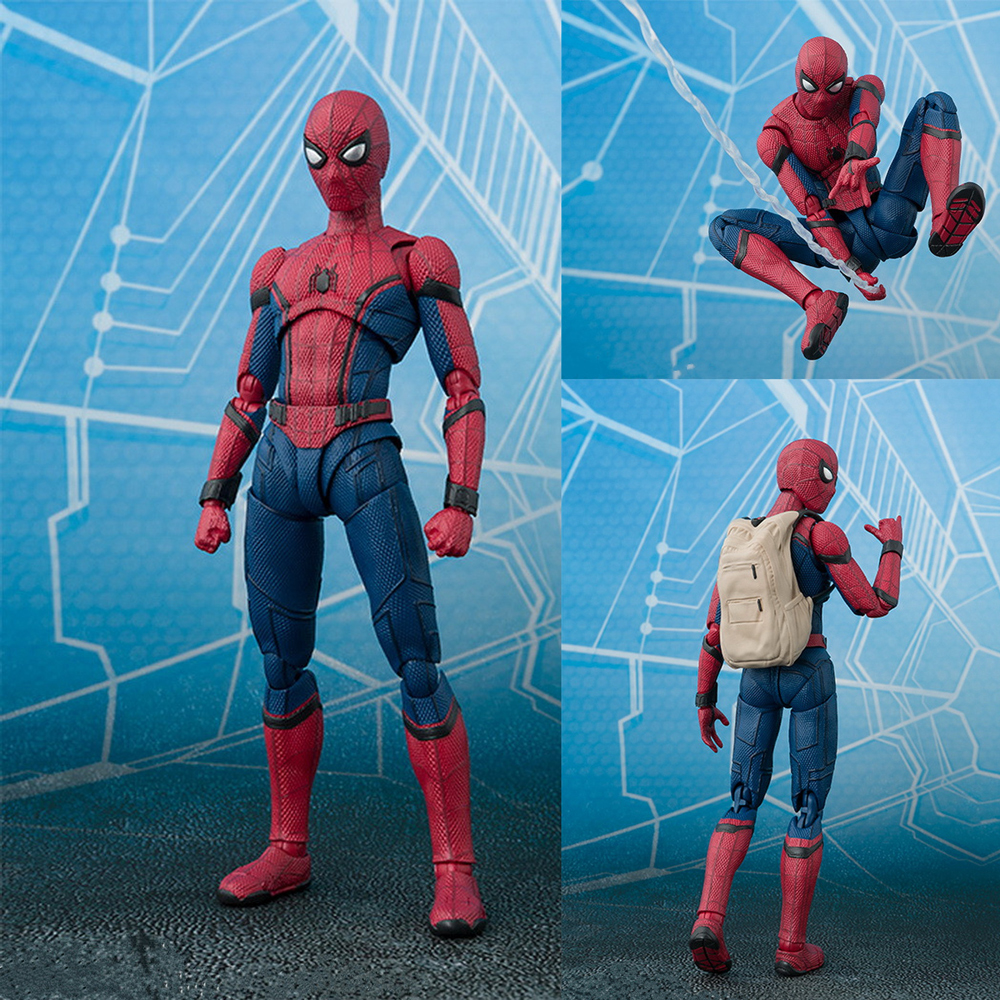 15cm Avengers Super Hero Spider Man Homecoming Action Figure Doll Toys Children Educational Spiderman Toy Gift Action Figures Aliexpress