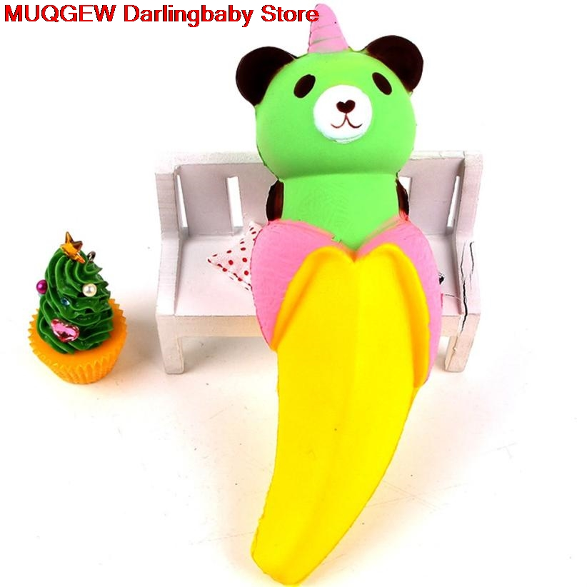 New Cartoon Banana Bear Scented Cream Squeeze Squishy Toys Slow Rising Antistress Fun Funny Interesting Toys Kid Gift Decoration Welding & Soldering Supplies