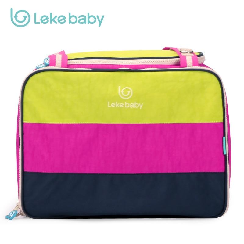 LEKEBABY Fashion Baby Bags For Mom Large Diaper Bag Organizer Design Nappy Bags Maternity Handbag Baby Stroller Bag