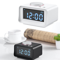 1 Set Digital Alarm Clock FM Radio Loud Alarm Clock for Heavy Sleepers with Dual Alarm, AUX in and Dual USB Charging