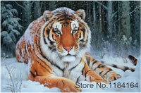 Diy Diamond Painting 3d Diamond Embroidery Snow Tiger Pictures Of Rhinestones Hobbies And Crafts Material For